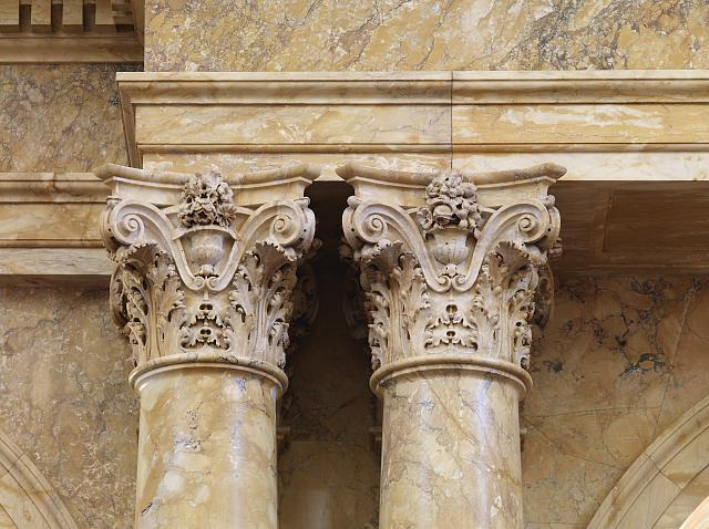[Main Reading Room. Detail of paired column capitals. Library of Congress Thomas Jefferson Building, Washington, D.C.]