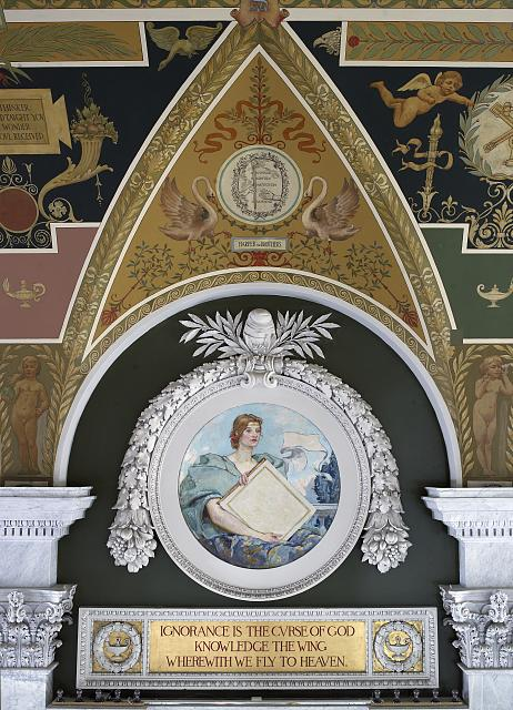[Second Floor, North Corridor. Mural depicting Knowledge by Robert Reid. Library of Congress Thomas Jefferson Building, Washington, D.C.]