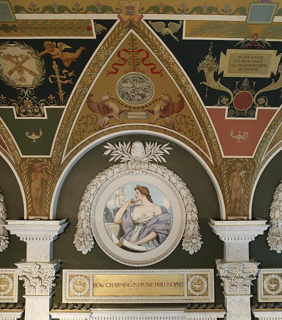 [Second Floor, East Corridor. Mural Philosophy by Robert Reid. Library of Congress Thomas Jefferson Building, Washington, D.C.]