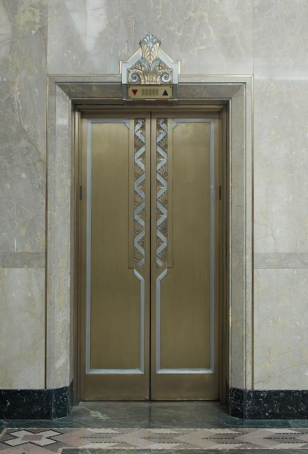 [Elevator in lobby of 2nd Street entrance. Library of Congress John Adams Building, Washington, D.C.]
