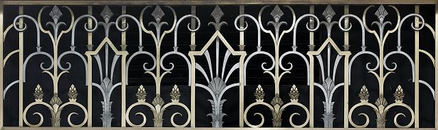 [Grille that appears above doors and in arches on ground floor. Library of Congress John Adams Building, Washington, D.C.]