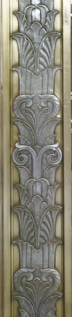 [Interior detail below owl above door to center reading room on fifth floor. Library of Congress John Adams Building, Washington, D.C.]