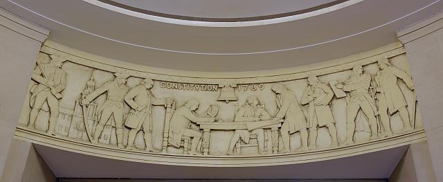 "Sculpture ""Legislative Law"" at Department of Justice, Washington, D.C."