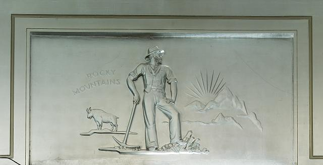 "Sculpture ""Rocky Mountains"" located in fifth floor lobby, Department of Justice, Washington, D.C."
