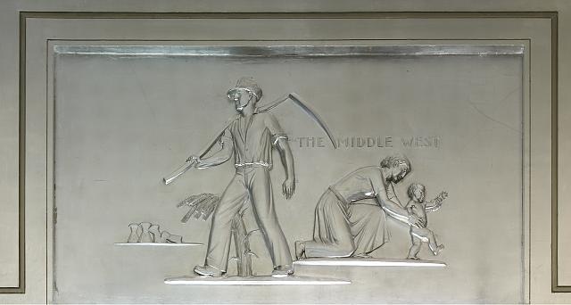 "Sculpture ""The Middle West"" located in fifth floor lobby, Department of Justice, Washington, D.C."