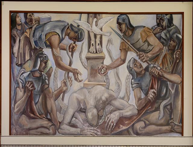 "Oil painting ""Greed"" located in fifth floor, main library, Department of Justice, Washington, D.C."