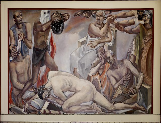 "Oil painting ""Intolerance"" located in fifth floor, main library, Department of Justice, Washington, D.C."