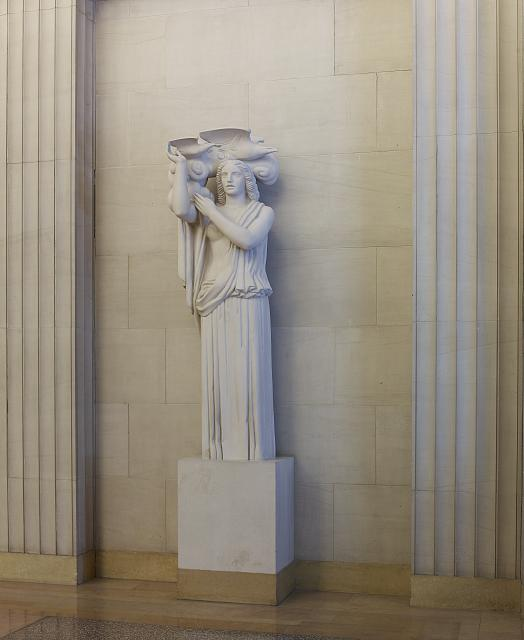 "Sculpture ""Air"" located in fifth floor elevator lobby, Department of Justice, Washington, D.C."