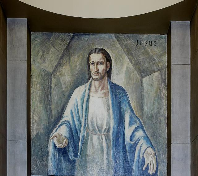 "Oil painting ""Jesus"" located in stairway of Great Hall, Department of Justice, Washington, D.C."