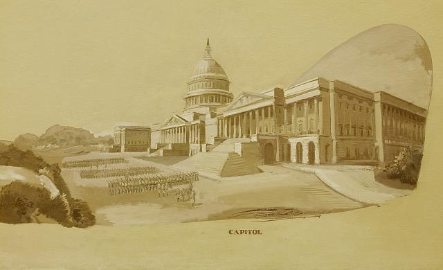 [Painting of U.S. Capitol,] Department of Justice, Washington, D.C.