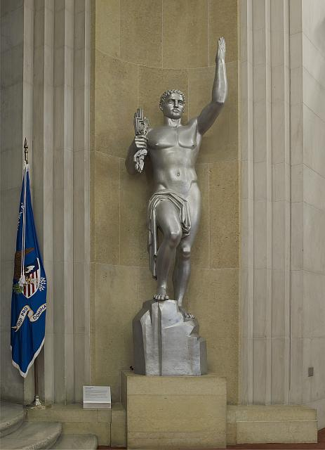 "Sculpture ""Majesty of Justice"" Great Hall, 2nd floor, Department of Justice, Washington, D.C."