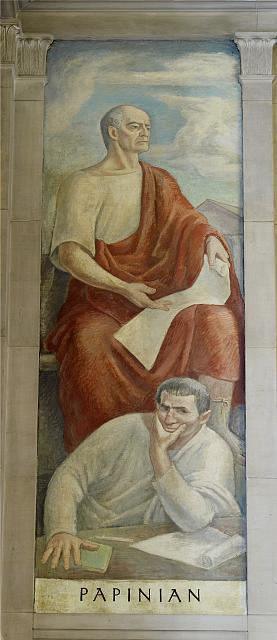 "Oil painting ""Papinian,"" in stairway of Great Hall, Department of Justice, Washington, D.C."