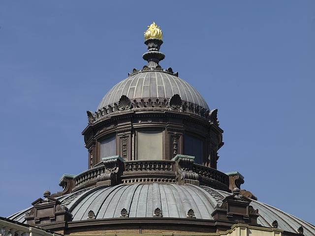 [Exterior view. Torch of Learning, cupola, and dome. Library of Congress Thomas Jefferson Building, Washington, D.C.]