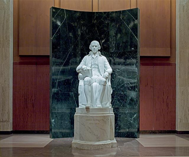[Memorial Hall. Statue of James Madison by Walker K. Hancock. Library of Congress James Madison Building, Washington, D.C.]