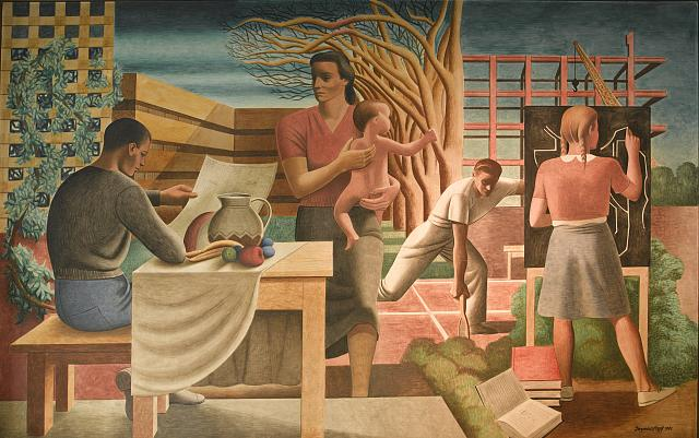 WPA mural, Cohen Building, Washington, D.C.