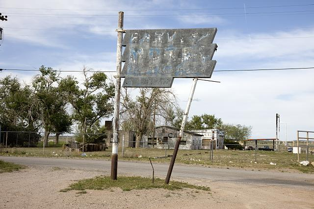 Old motel sign, Truxton, Arizona