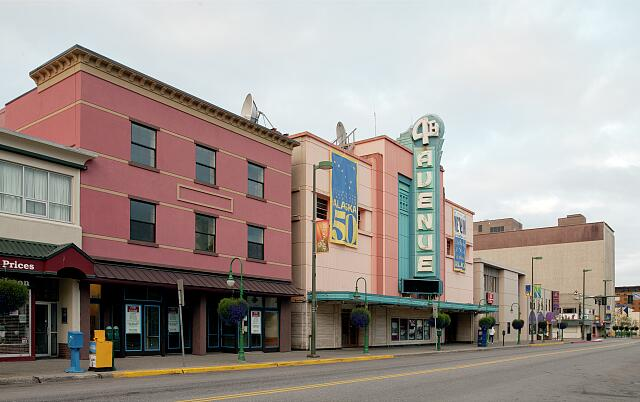 Downtown Main Street view of Anchorage, Alaska