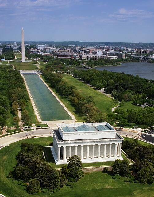 National Mall, Lincoln Memorial and Washington Monument, Washington D.C.