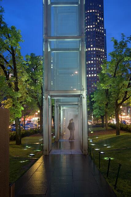 The New England Holocaust Memorial, Boston, Massachusetts