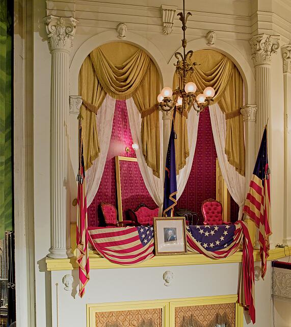 Ford's Theatre box where Abraham Lincoln assassinated, Washington, D.C.