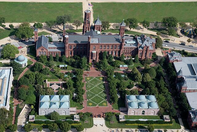 Smithsonian Castle Aerial, Washington, D.C.
