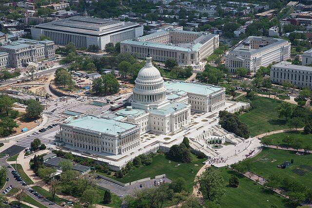 The Capitol during restoration, Washington, D.C.