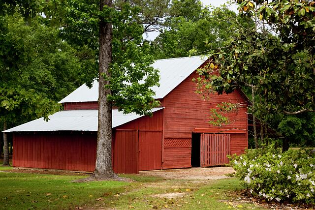 Historic barn in Monroe County, Alabama