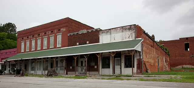 These commercial buildings reflect the heyday of downtown Cherokee, Alabama