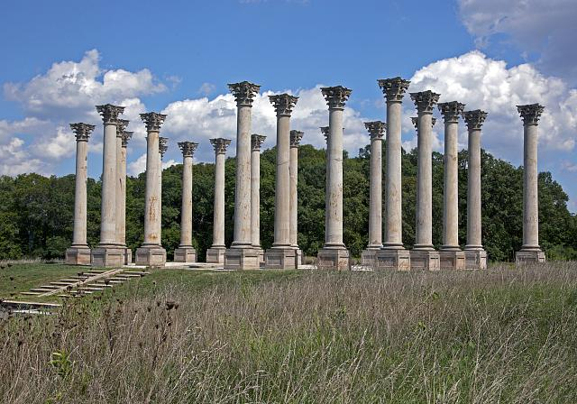 National Capitol columns at the United States National Arboretum located in NE, Washington, D.C.