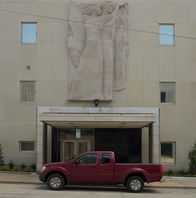 "Sculpture ""Destiny"" at Federal Building & U.S. Courthouse, Oklahoma City, Oklahoma"