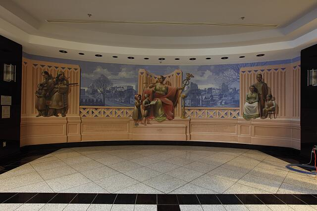 "Painting ""Justice and the Prairie"" at the Robert J. Dole Federal Building & U.S. Courthouse, Kansas City, Kansas"