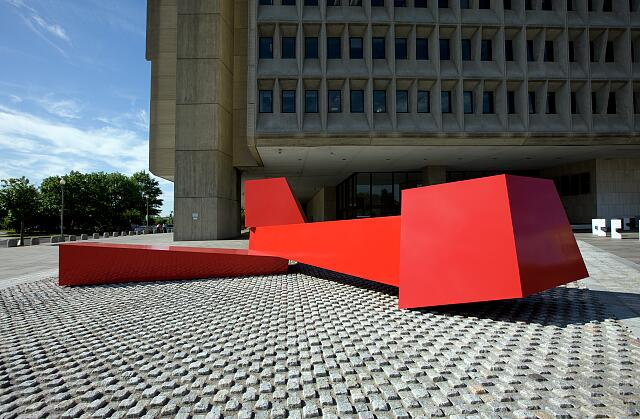 "Sculpture ""Heroic Shorepoints I"" at the Hubert Humphrey Federal Building, Washington, D.C."