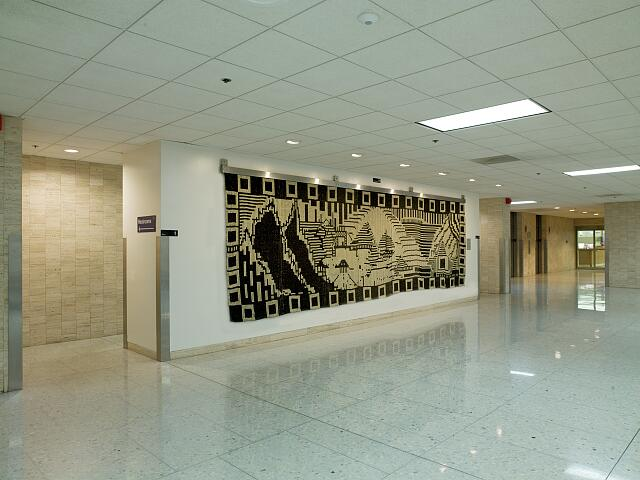 "Tapestry ""Evolutionary Notes to Wk"" at the Hubert Humphrey Federal Building, Washington, D.C."