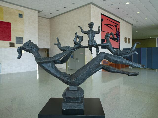 "Bronze sculpture ""Happy Mother"" at the Hubert Humphrey Federal Building, Washington, D.C."