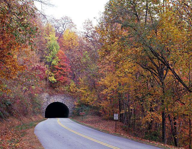Tunnel on North Carolina's Blue Ridge Parkway