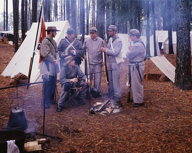 Civil War reenactment, North Carolina