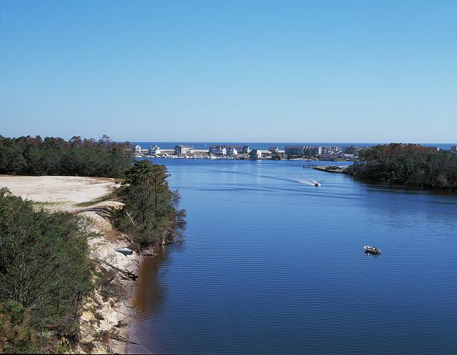 Intracoastal waterway near Wilmington, North Carolina