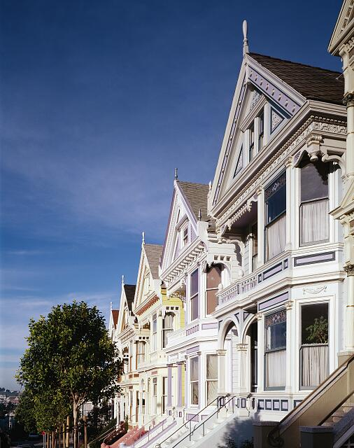 Row houses, San Francisco, California
