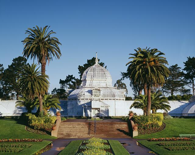 Conservatory of flowers, Golden Gate Park, San Francisco, California