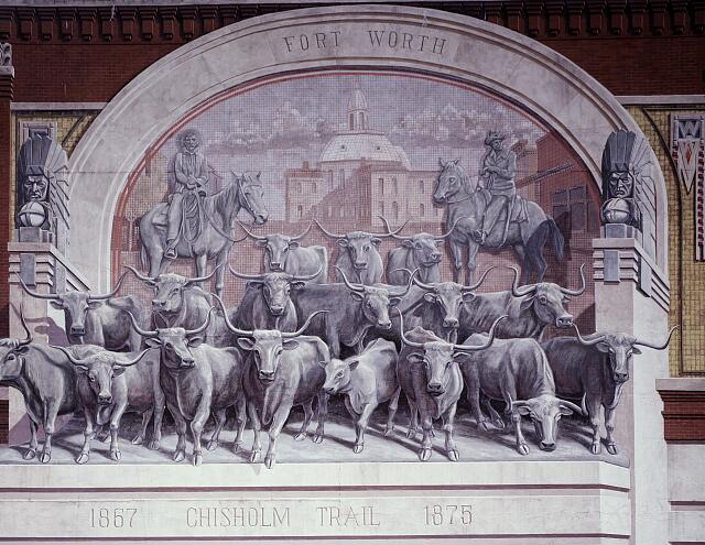 Chisholm Trail mural, Fort Worth, Texas