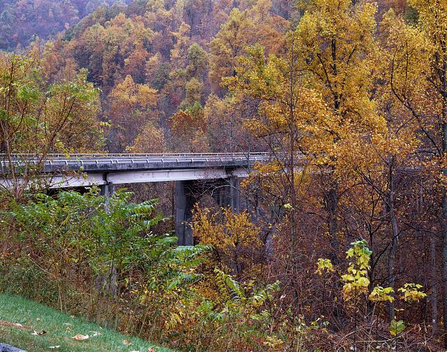 Autumn on the Blue Ridge Parkway in North Carolina