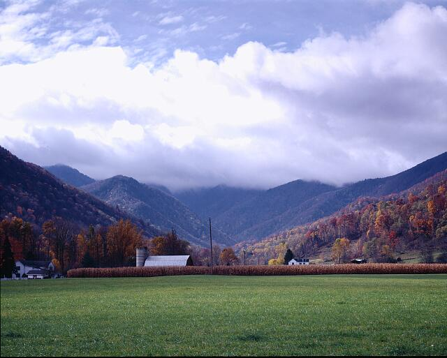 Fall storm over Maggie Valley, North Carolina