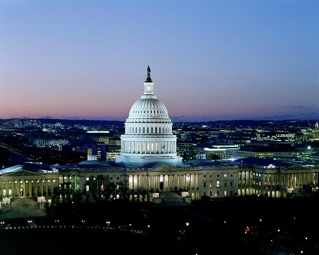 Dusk at U.S. Capitol, Washington, D.C.