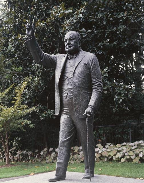 Churchill Statue, British Embassy, Washington, D.C.