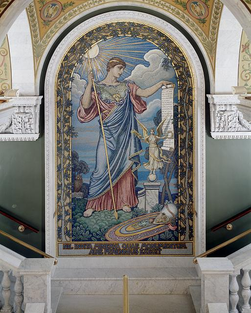 Library of Congress Minerva Mosaic in the Great Hall of the Thomas Jefferson Building, Washington, D.C.