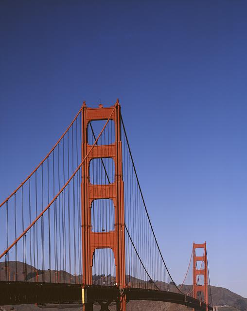 Golden Gate Bridge crossing, San Francisco, California