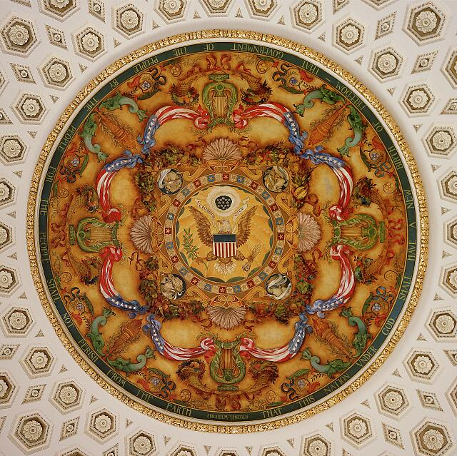 Ceiling detail, Library of Congress Thomas Jefferson Building, Washington, D.C.