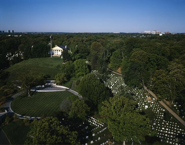 Aerial of Arlington Cemetery, Arlington, Virginia