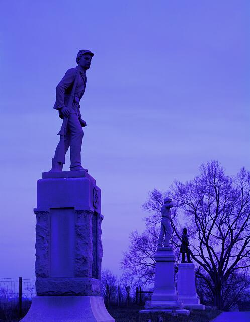 Antietam Road statues at Antietam National Battlefield, Maryland