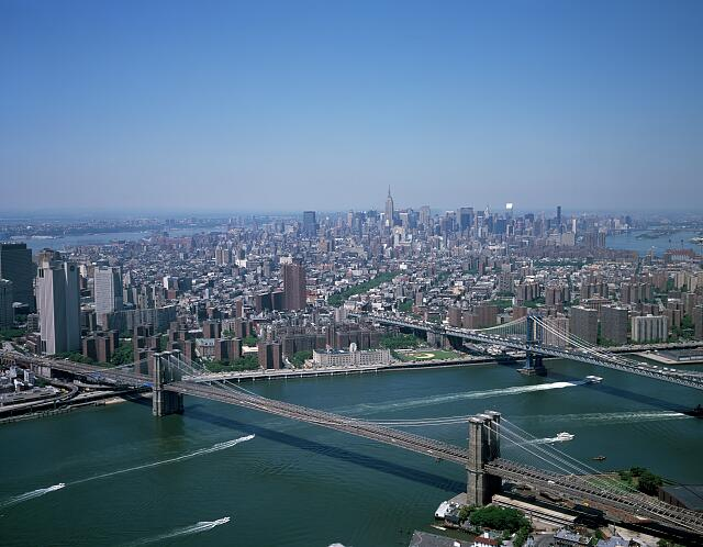 Aerial of New York City